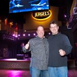 Ron Sofranko and Rick Jergel at the Opening of Jergel's Rhythm Grille