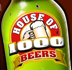 House of 1000 Beers has a great selection of craft beer