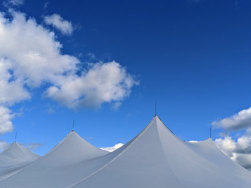 white outdoor rental tents