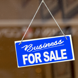 Business for Sale Sign in Window